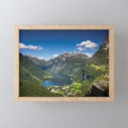 Geiranger Fjord Framed Mini Art Print