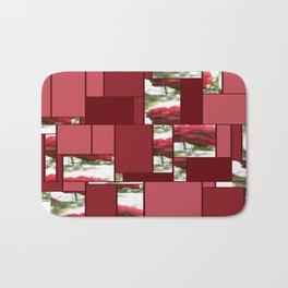Red Rose with Light 1 Art Rectangles 8 Bath Mat