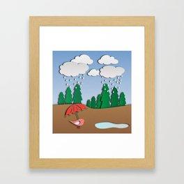 Digital papercut Framed Art Print