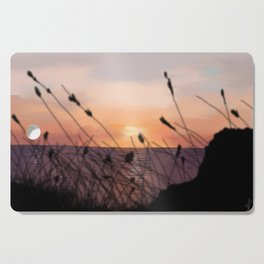 The Sunset on the Sea. Cutting Board