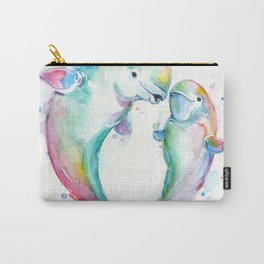 Bubbly Belugas Carry-All Pouch