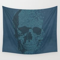 deadmau5 Wall Tapestries featuring Melodic Skull by Sitchko Igor