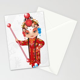 Beijing Opera Character YangPaiFeng Stationery Cards