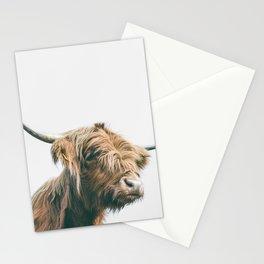 Majestic Highland cow portrait Stationery Cards