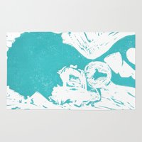 afro Area & Throw Rugs featuring Afro Blue by J. Lynn Art