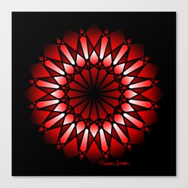 Burnt Umber Wonder Mandala Canvas Print