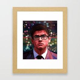 Through His Mind Framed Art Print