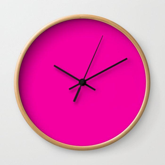 Fashion fuchsia Wall Clock