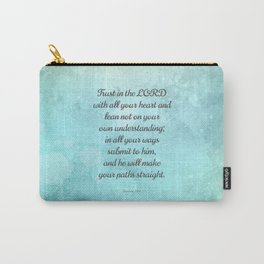 Proverbs 3:5-6, Encouraging Bible Quote Carry-All Pouch