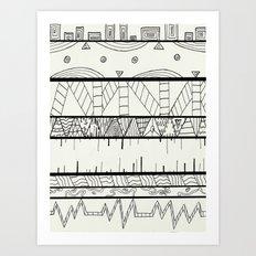 Pentastic Pattern Art Print