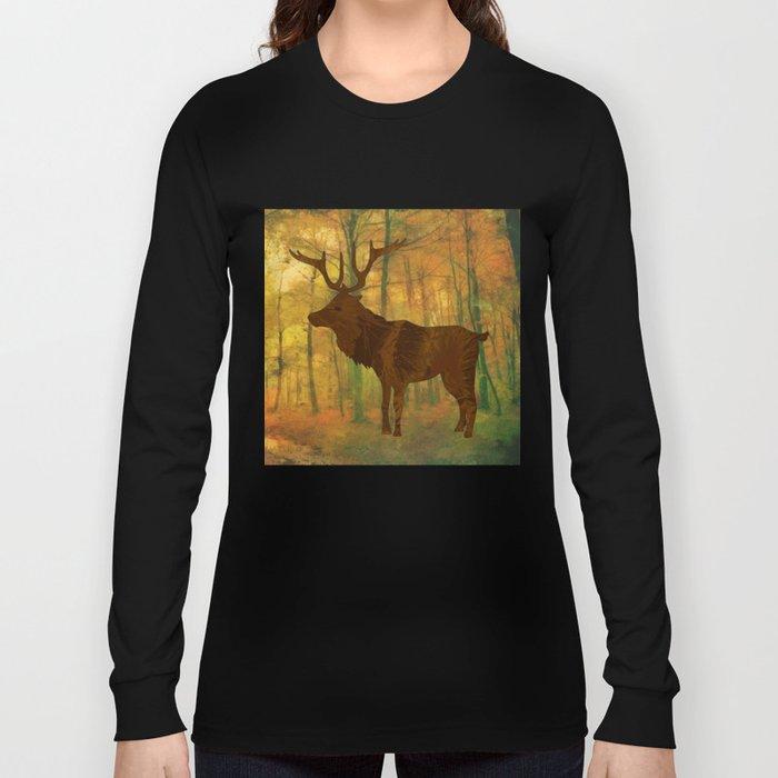 Deer in autumn Long Sleeve T-shirt