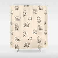 bears Shower Curtains featuring Bears by leah reena goren