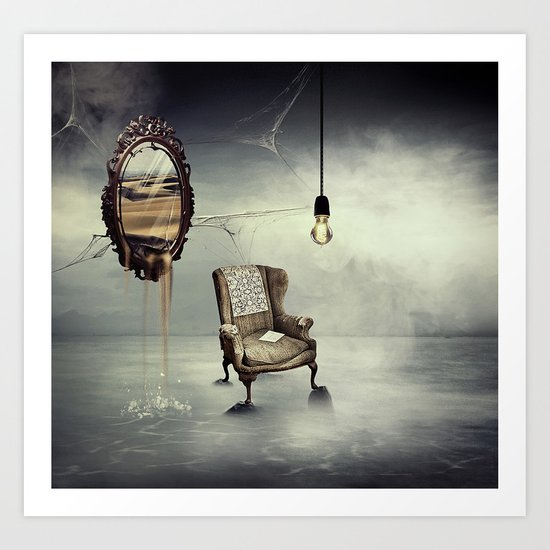 Reflection of truth Art Print
