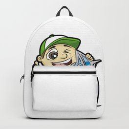 I LOVE DUBAI GUY BURJ AL ARAB HOTEL Vacation Backpack