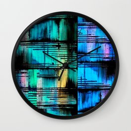 BlueBlueBlue Wall Clock