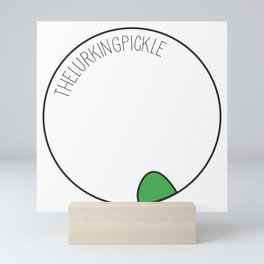 The Lurking Pickle Mini Art Print