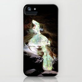Trees Through the Rocks iPhone Case