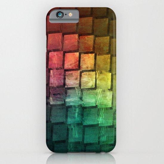 Rainbow grid iPhone & iPod Case