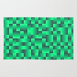 Deep Sea Green Geo Pattern Rug