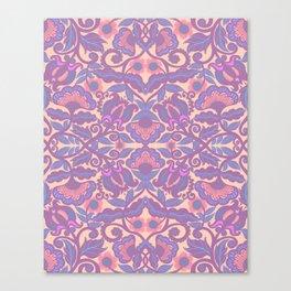 Purple Vines Folk Art Flower Pattern Canvas Print