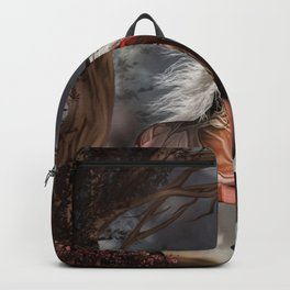 Fantasy horse with beautiful fantasy women Backpack