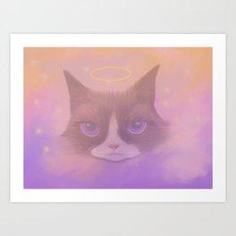 Cosmic Cat - Angel Art Print