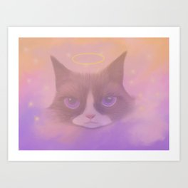 Cosmic Cat - Angel Art Print