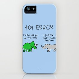 404 Error (Triceratops and Rhino) iPhone Case
