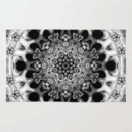 Black-and-White Abstract 50 Rug