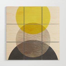 SUN MOON EARTH Wood Wall Art