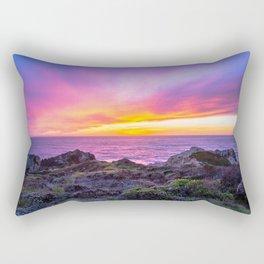 California Dreaming - Brilliant Sunset in Big Sur Rectangular Pillow