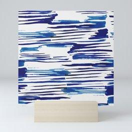 Shibori Paint Vivid Indigo Blue and White Mini Art Print