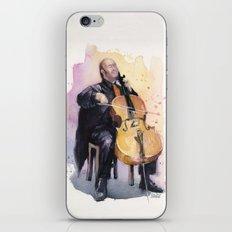 Cello Music Watercolor Cellist Portrait iPhone & iPod Skin