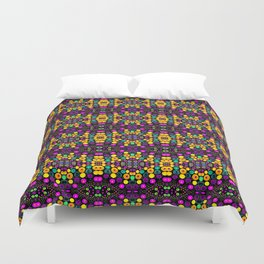 Yellow And Purple Mosaic Duvet Cover