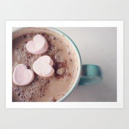 Pink Cocoa  Art Print