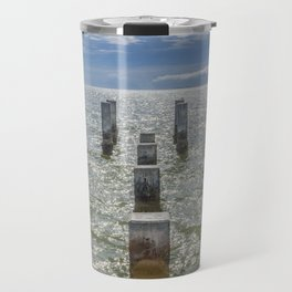 Pieces of an old pier Ship Island, Mississippi Travel Mug