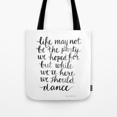 We should dance Tote Bag