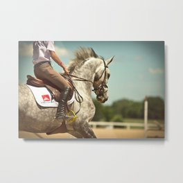 Show Jumping Warm Up Metal Print