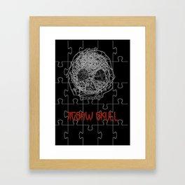 Jig Skull Framed Art Print