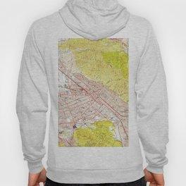 Vintage Map of Burbank California (1953) Hoody