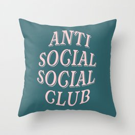Anti Social Social Club Throw Pillow