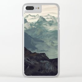 Mountain Fog Clear iPhone Case