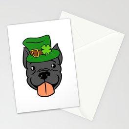 Leprechaun Pitbull - St. Patricks Day Stationery Cards