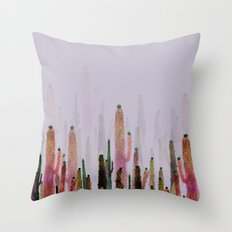 cactus water color colors Throw Pillow