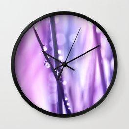 Drops Purple 18 Wall Clock