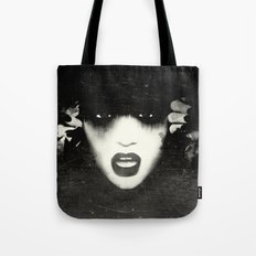 Black&White Grunge Woman  Tote Bag