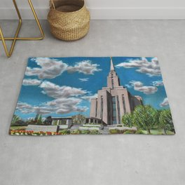 Oquirrh Mountain LDS Temple Rug