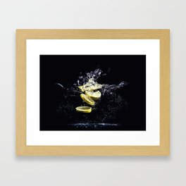 Lemon Plunge Framed Art Print