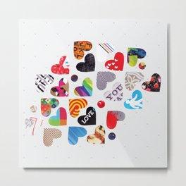 Heart Patterns Metal Print