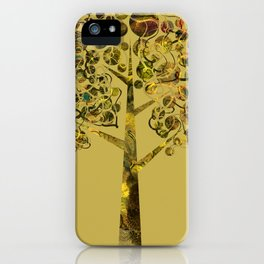 Gold tree larger iPhone Case